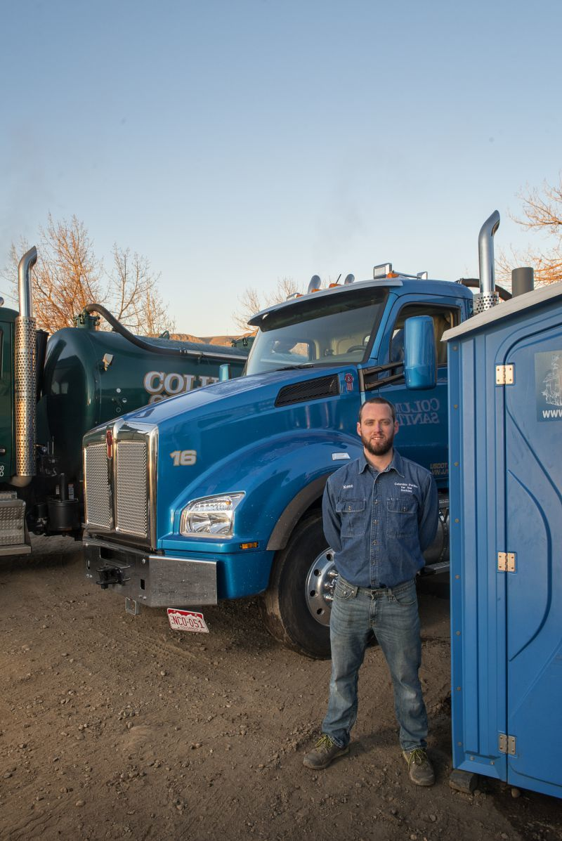Kent Simmons of Columbia Sanitary and Columbia Potties for the Rockies in Golden, Colorado