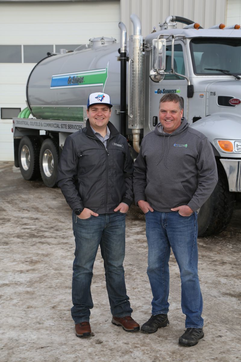 Dustin and Devin Cabelka of Go Services in Red Deer and Fort McMurray, Alberta