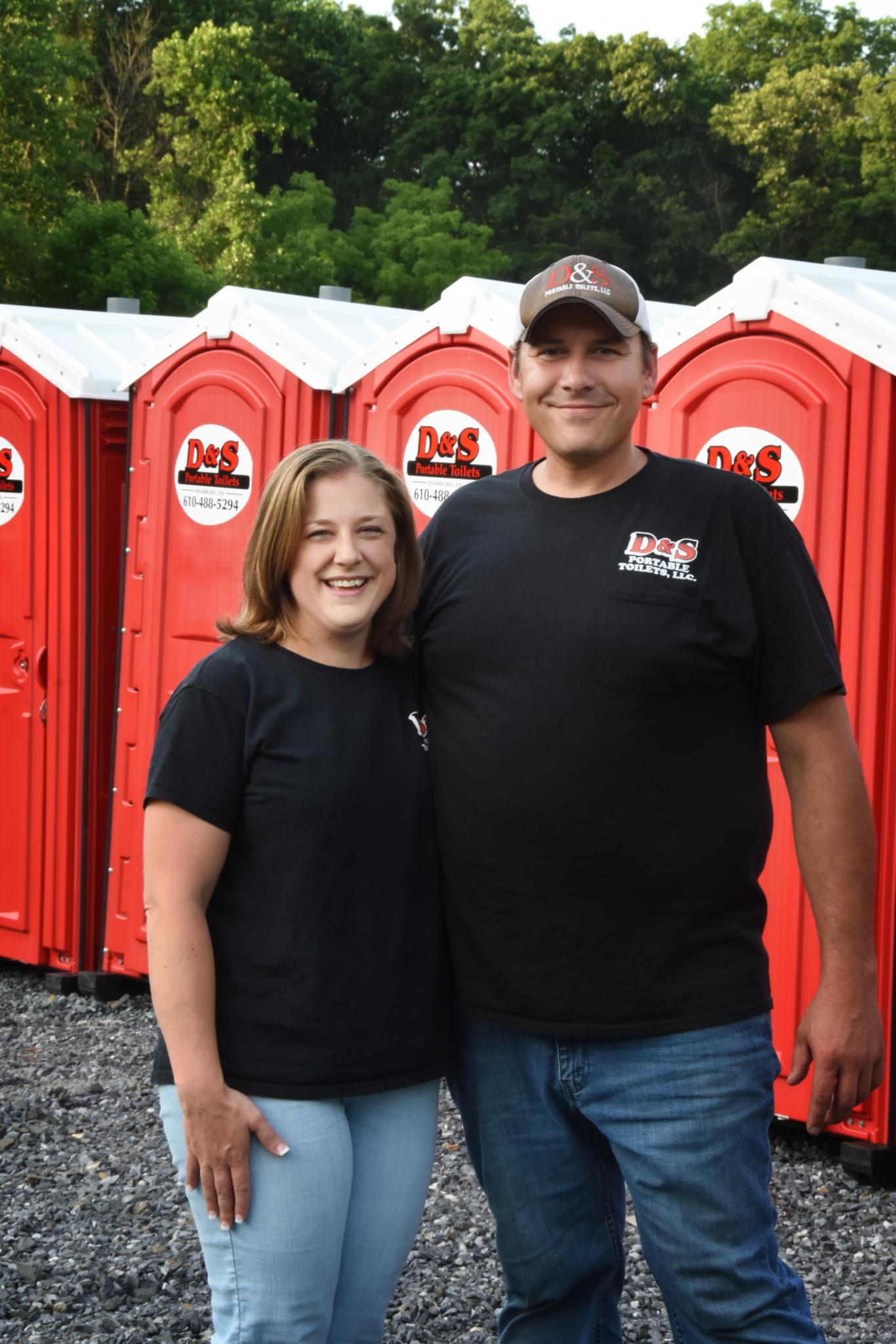 Sara and Dennis Kline of D&S Portable Toilets in Hamburg, Pennsylvania