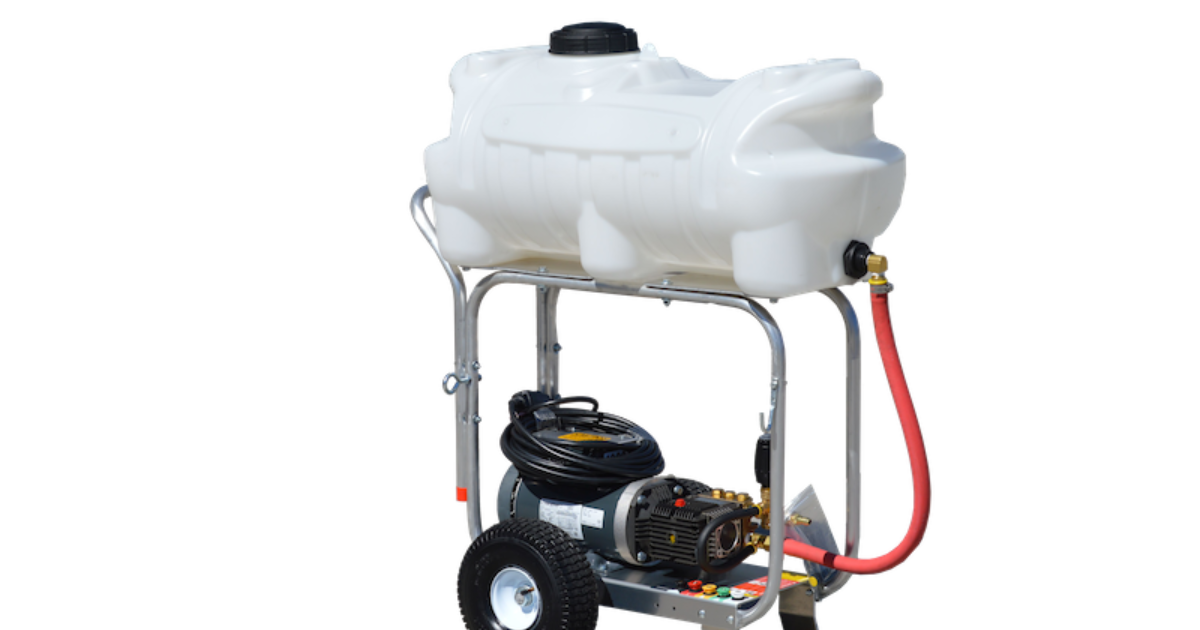 Onboard Water Tank Lets Pressure Washer Go Where Others