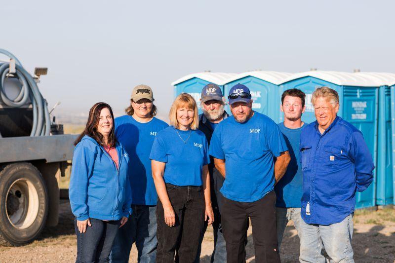 The MonDak Portables crew in Epping, North Dakota